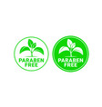 paraben free sign or stamp symbol vector image vector image