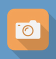 Photo camera flat icon Symbol or sign of camera vector image