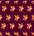 playful baby foxes seamless pattern vector image