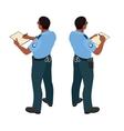 Policeman in uniform Policeman icon Policeman vector image