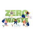 pollution recycling ecology zero waste concept vector image