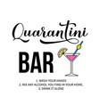 quarantini bar sign calligraphy lettering