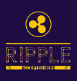ripple accepted here vector image