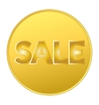 SALE COIN GOLD vector image vector image