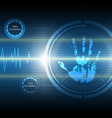 scan handprint technology background vector image