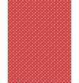 Seamless dot pattern Multicolor dots on red vector image