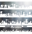Set of industrial skyline vector image vector image