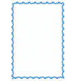 simple blue frame border with gear wheels for vector image