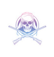 skull with hat with ear flaps vector image vector image