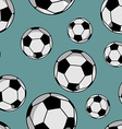 Soccer ball seamless pattern Sports accessory vector image vector image