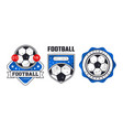 soccer or football badges or labels set vector image vector image