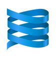 spiral blue ribbon vector image vector image