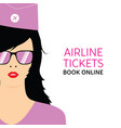 stewardess black in violet uniforms with booking vector image vector image