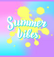 summer vibes colorful fun poster beach party vector image vector image