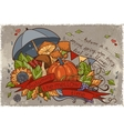 to autumn season doodles and vector image vector image