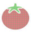 tomato vegetable halftone icon vector image