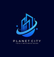 town planet template vector image vector image