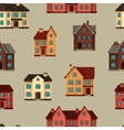 Town seamless pattern with cottages and houses vector image