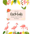 trendy summer tropical banners for hawaiian party vector image vector image