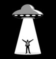 ufo abduction simple graphic vector image