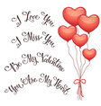 Valentine phrases vector image vector image