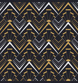 vintage art deco gold geometric seamless pattern vector image vector image