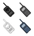 walkie-talkiepaintball single icon in cartoon vector image vector image