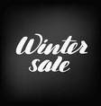 winter sale chalkboard blackboard lettering vector image vector image