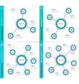 minimalistic creative 3-6 infographic charts