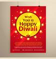 amazing diwali festival flyer template vector image