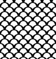 black and white squamous pattern vector image