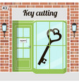 key cutting key cutting service locksmith vector image