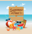 summer time background banner design template and vector image