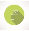 Smartphone e-mail icon vector image
