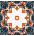 Mandala orange swadhisthana lotus flower symbol vector image