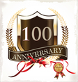 100 years anniversary golden label vector image vector image