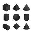 3d geometric shapes set vector image