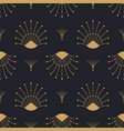 abstract gold art deco retro seamless pattern vector image