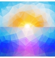 Abstract sunset background triangle design vector image vector image
