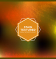 autumn stained background in grunge style vector image vector image