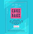 bakery menu design template vector image
