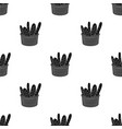 basket of baguette icon in black style isolated on vector image