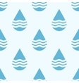 Blue water drops seamless pattern vector image vector image