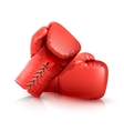 Boxing Gloves Realistic vector image vector image