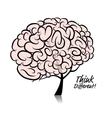 Brain tree concept for your design vector image