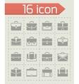 Briefcase icon set vector image vector image