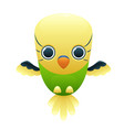 budgerigar cute cartoon character vector image
