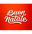 Buon Natale lettering in italian Christmas card vector image vector image