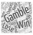 BWG low risk betting tips Word Cloud Concept vector image vector image