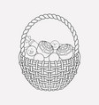 candies basket icon line element vector image